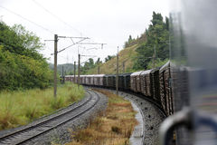 Chinese Freight train Stock Image
