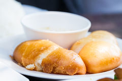 Chinese fried bun Royalty Free Stock Photo