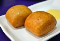 Chinese fried bun Stock Photo