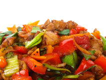 Chinese fried Chicken with vegetables. Royalty Free Stock Image