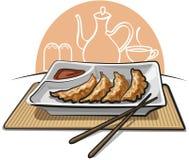 Chinese fried dumplings Stock Photos