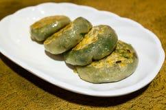 Chinese fried leek dumplings Royalty Free Stock Photography