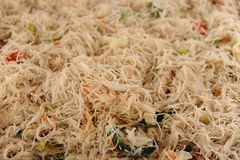 Chinese Fried Noodles. Cooked Chinese noodles, called lo mein or chow mein Royalty Free Stock Photos