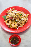 Chinese fried noodles that local food call Chao Guo Tiao. In Penang ,Malaysia royalty free stock photo