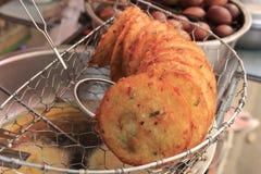 Chinese fried rice crackers Stock Photo