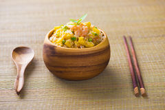 Chinese fried rice , or nasi goreng popular cusine in asia Royalty Free Stock Photography