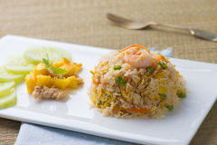 Chinese fried rice , or nasi goreng popular cusine in asia Stock Photography