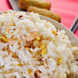 Chinese fried rice and springrolls Royalty Free Stock Photography
