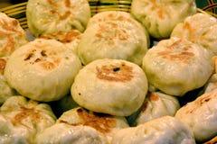 Chinese fried stuffed bun Stock Images