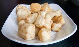 Chinese Fried Tofu Stock Photo