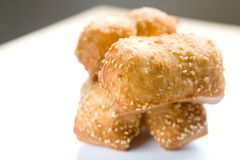 Chinese fritters covered in sesame seed. Stock Photography