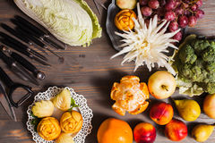 Chinese Fruit Carving Royalty Free Stock Photo