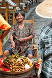 Chinese fruit vendor Stock Photo