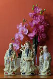Chinese Fu Lu Shou. Fu, Lu, and Shou is the concept of Happiness (Fu), Prosperity (Lu), and Longevity (Shou). This concept of the Chinese traditional religion is royalty free stock photo
