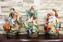 Chinese Fu Lu Shou or God of Prosperity, Happiness, Longevity. Figurine stock images