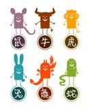 Chinese funny cartoon 1 Stock Photos