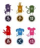 Chinese funny cartoon 2 Stock Photo