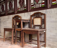 Chinese Furniture. The traditional chinese house with its furniture Royalty Free Stock Photos