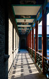 Chinese galleries. Chinese pseudo-Palace in Changchun cloisters Stock Photography