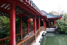 Chinese gallery bridge Royalty Free Stock Photos