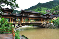 Chinese gallery bridge Royalty Free Stock Images