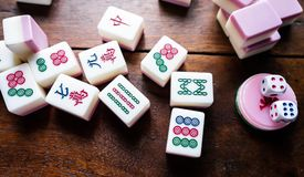 Chinese gambling,. One kind of Chinese gambling is called Mahjong royalty free stock photos