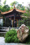 Chinese garden. Quiet classical Chinese garden scene Royalty Free Stock Image