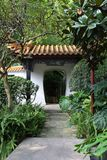 Chinese garden. The entrance of Chinese garden Royalty Free Stock Photos