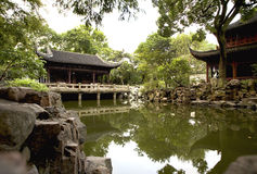 Chinese Garden. Traditional chinese garden in Suzhou, China Royalty Free Stock Photography