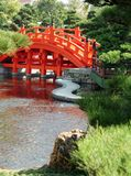 Chinese garden. Arched bridge in a Chinese garden Stock Images