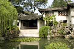 Chinese garden. Chinese Classical Gardens of Suzhou royalty free stock photo