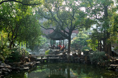 Chinese Garden. Yuyuan garden, the Garden of Leisurely Repose, was built in the Ming dynasty. It is the only Ming garden left in the city of Shanghai. It was Royalty Free Stock Images
