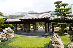 Chinese Garden. Of Chi Lin Nunnery and , Hong Kong Stock Images