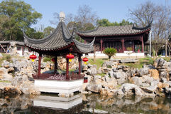 Chinese garden. China Garden is located in the Donghu Hotel within Stock Photos