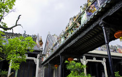 Chinese garden of ancient old buildings. Ancient Chinese architecture:the garden landscape Stock Photos