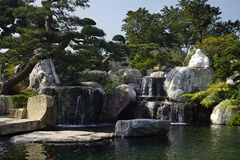 Chinese garden. An artificial miniature chinese garden in southchina Stock Photography