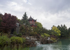 Chinese garden at the Botanical Garden of Montreal Stock Photography