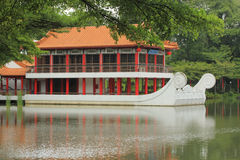 Chinese garden. Building at the Chinese garden in Singapore Stock Photo