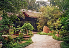 Chinese garden in chengdu, China Royalty Free Stock Image