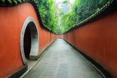 Chinese garden. At Chengdu, Sichuan, China Stock Photo