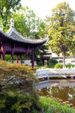 Chinese Garden in Frankfurt am Main Royalty Free Stock Images