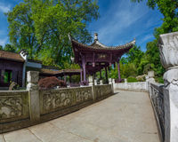 Chinese garden in Frankfurt Royalty Free Stock Photography