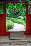 Chinese garden gateway Stock Photography