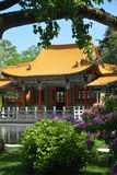 Chinese Garden With House Stock Photos