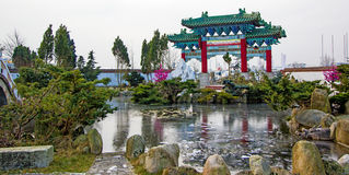 Chinese garden Husum. Germany. Stock Images