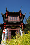Chinese garden inthe Botanical Garden of Montreal Royalty Free Stock Image