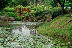 Chinese Garden - Jurong Central Park, Singapore. Pond in Chinese Garden - Jurong Central Park, Singapore Stock Photography