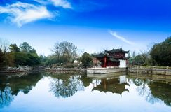 Chinese garden King. Garden is a kind of art for people to visit and entertain, and create scenery with their own hands. Due to the different understanding and Royalty Free Stock Images