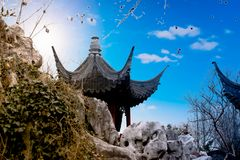 Chinese garden King. Garden is a kind of art for people to visit and entertain, and create scenery with their own hands. Due to the different understanding and Stock Photo