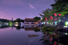 Chinese Garden Lake. A photo of a classical Chinese Garden with a lake Stock Image